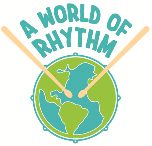 Logo for A World of Rhythm program