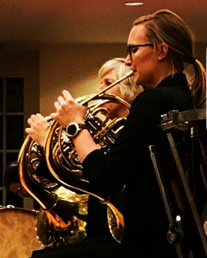Brooke playing her French Horn