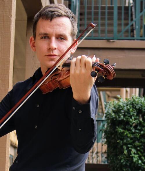 Daniel playing the violin