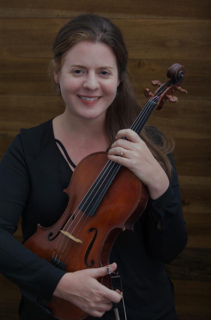 Megan Kehren holding viola