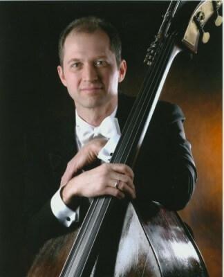 Steve Benn holding bass