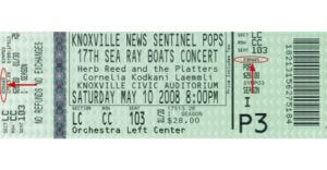 Knoxville Symphony Orchestra ticket example