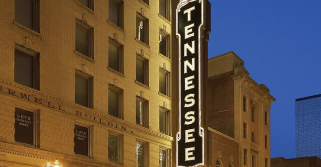 Front facade of Tennessee Theatre