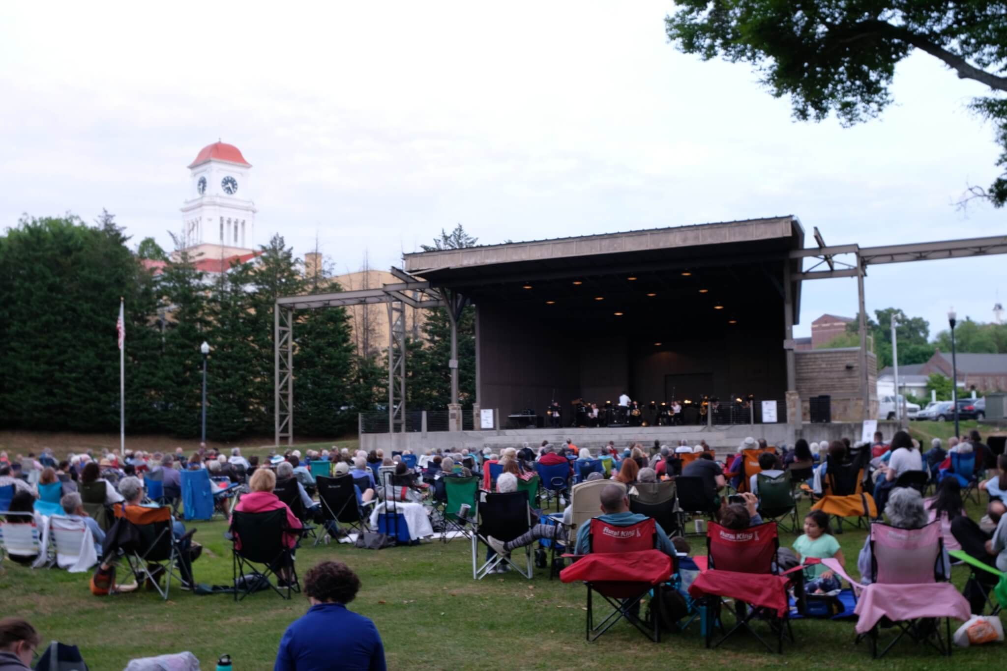 A crowd watches the KSO perform at the 2021 Maryville runout concert